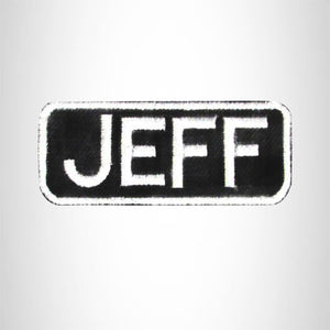Jeff Iron on Name Tag Patch for Motorcycle Biker Jacket and Vest NB166