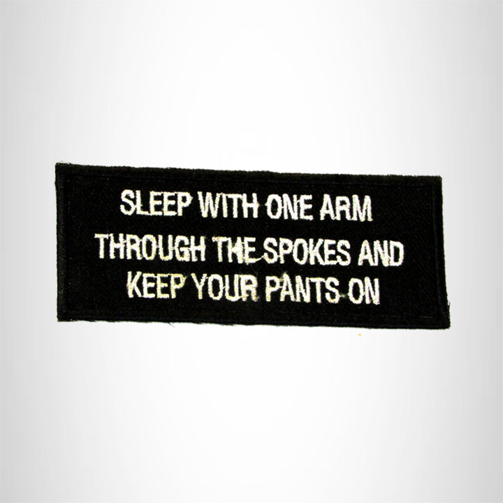 SLEEP WITH ONE ARM  Iron on Small Patch for Biker Vest SB925