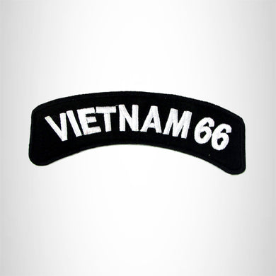 Vietnam 66 Vet American Veterans Small Military Rocker Patch