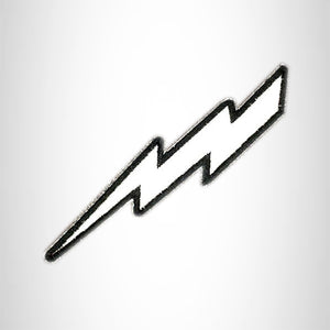 LIGHTNING BOLT REFLECTIVE Small Patch Iron on for Vest Jacket SB626