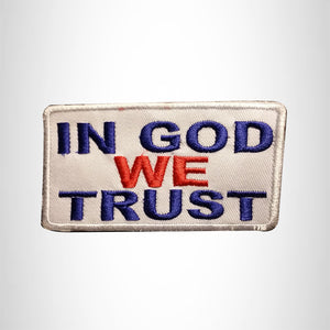 IN GOD WE TRUST Red White and Blue Small Patch Iron on for Vest SB642