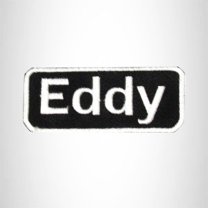 Eddy Iron on Name Tag Patch for Motorcycle Biker Jacket and Vest NB157