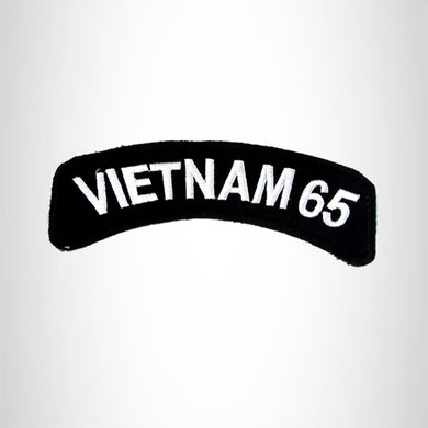 Vietnam 65 Vet American Veterans Small Military rocker style military patches