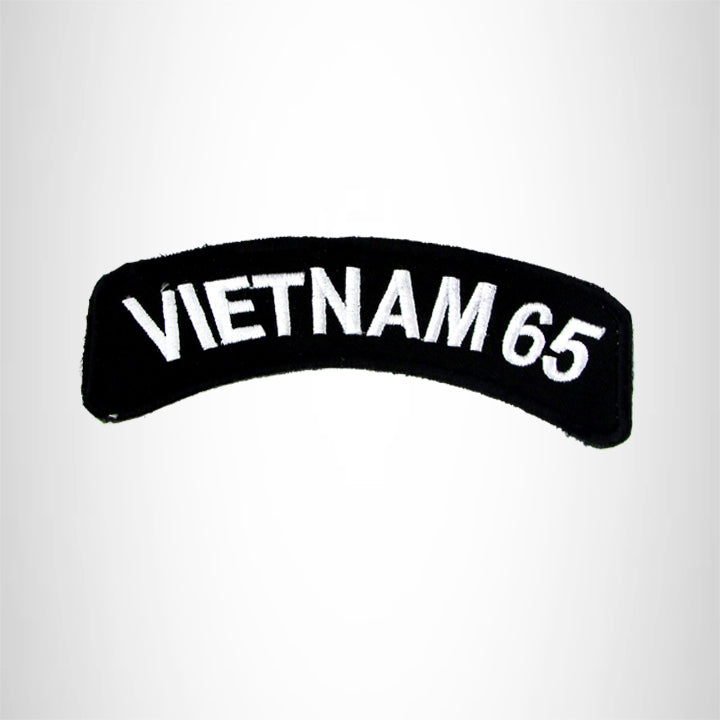 Vietnam 65 Vet American Veterans Small Military Rocker Patch