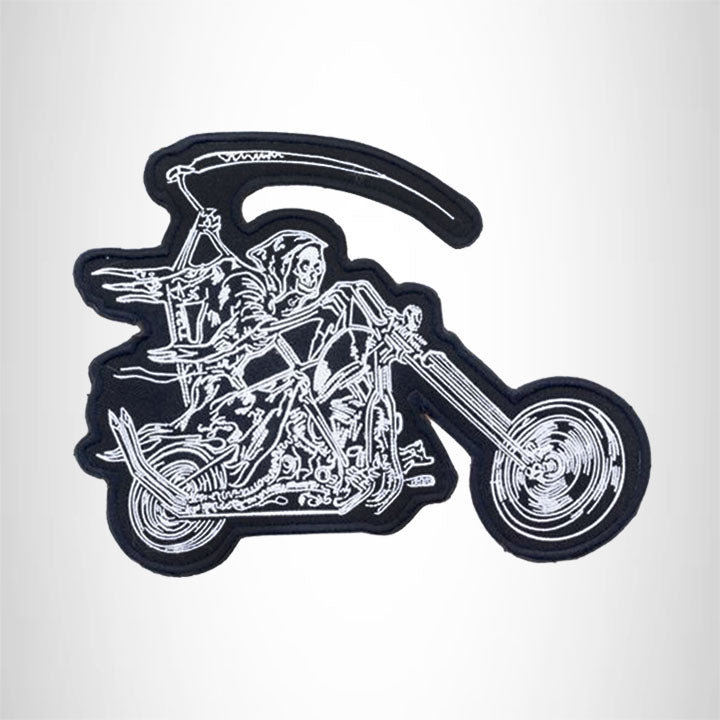 REAPER ON MOTORCYCLE Iron on Center Patch for Biker Vest CP182