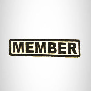 MEMBER Black on White Small Patch Iron on for Biker Vest SB683