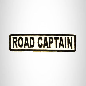ROAD CAPTAIN Black on White Small Patch Iron on for Biker Vest SB687