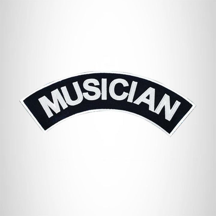 MUSICIAN Patch Top Rocker Black Back Patches for Vest Jacket