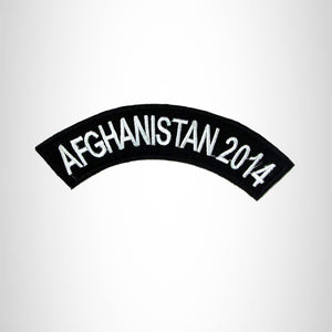 Afghanistan 2014 Small Military Rocker Patch