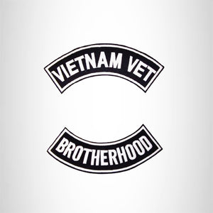 VIETNAM VET BROTHERHOOD PATCHES BACK PATCH ROCKERS SET NEW
