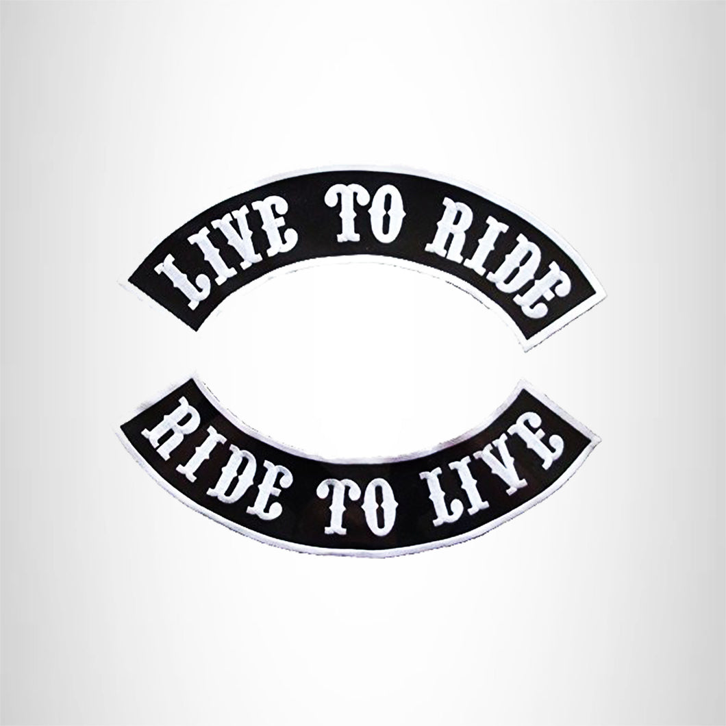 Live to Ride, Ride to 2 Patches Set Sew on for Vest Jacket