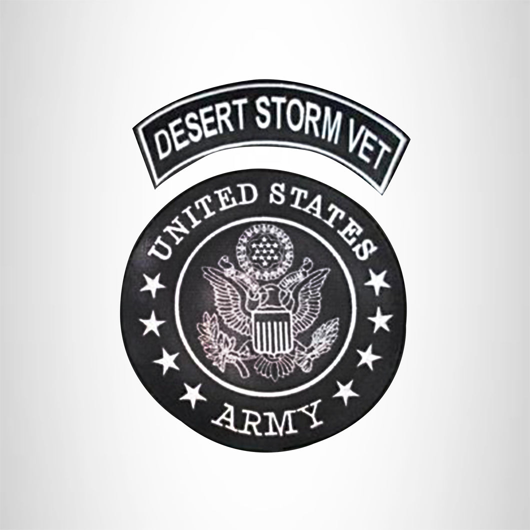 U.S Army Desert Storm Vet 2 Patches Set Sew on for Vest Jacket