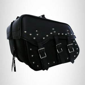 Saddlebags set for harley dyna super glide 3 straps