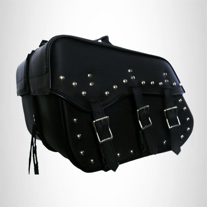 Motorcycle Detachable Saddlebag for Harley Dyna Super Glide 3 Straps SAD220