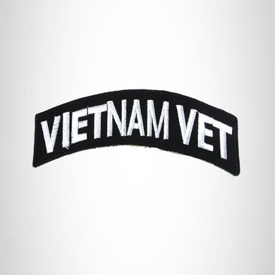 Vietnam Vet American Veterans Small Military rocker style military patches