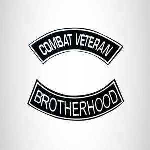 Combat Veteran Brotherhood 2 Patches Set Sew on for Vest Jacket