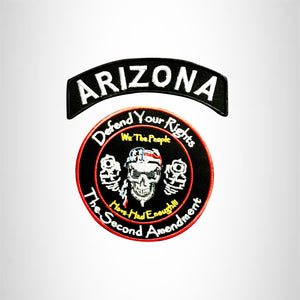 ARIZONA DEFEND YOUR RIGHTS THE SECOND AMENDMENT JACKET 2 PATCH SET