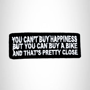 YOU CAN'T BUY HAPPINESS Small Patch Iron on for Biker Vest SB711