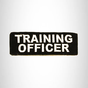 TRAINING OFFICER White on Black Small Patch Iron on for Biker Vest SB712