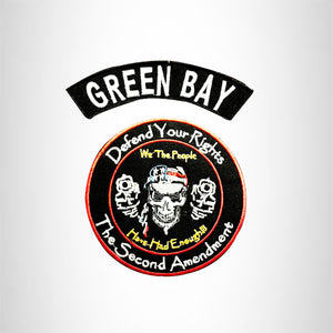 GREEN BAY and Defend Your Rights Smalls Set for Biker Vest