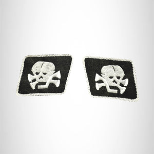 DEATH SKULL COLLAR SET L2 Small Patch Iron on for Vest Jacket SB673