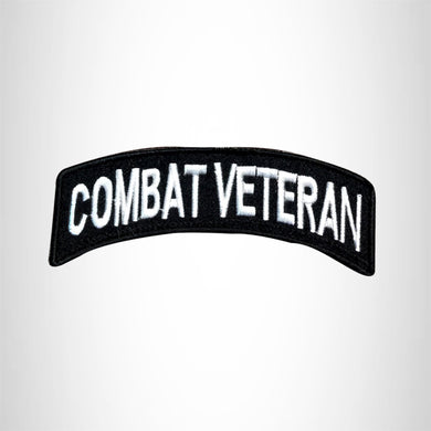 Combat Veteran American Veterans Small Military rocker style military patche