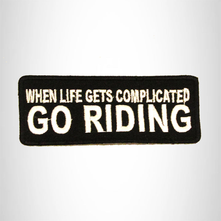 WHEN LIFE GETS COMPLICATED Small Patch Iron on for Biker Vest SB719