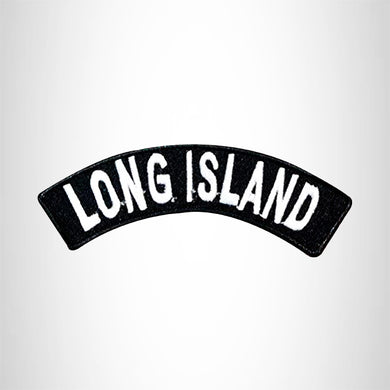 Long Island Embroidered Small Rocker Patch Biker Patches