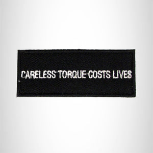 Careless torque cost lives Iron on Small Patch for Motorcycle Biker Vest SB981