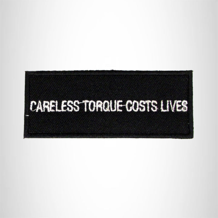 Careless Torque Cost Lives Iron on Small Patch for Biker Vest SB981