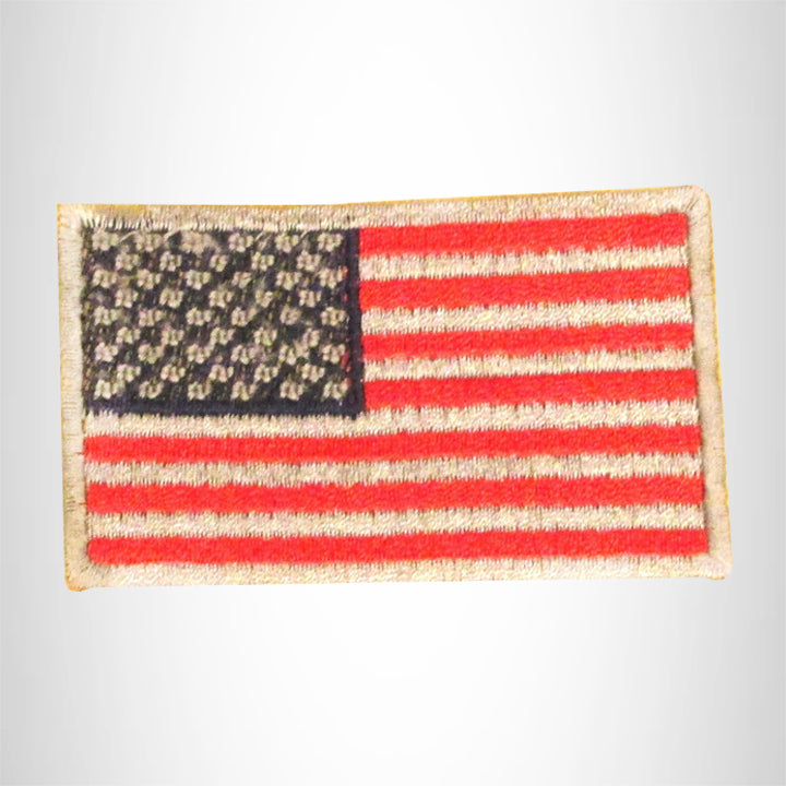 U.S Flag Red Silver and Blue Small Patch Iron on for Biker Vest SB789