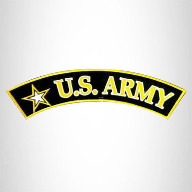 U.S. ARMY  White and Yellow and Black Army Star Patch and Patches Top Rocker Patch and Patches Top Rocker