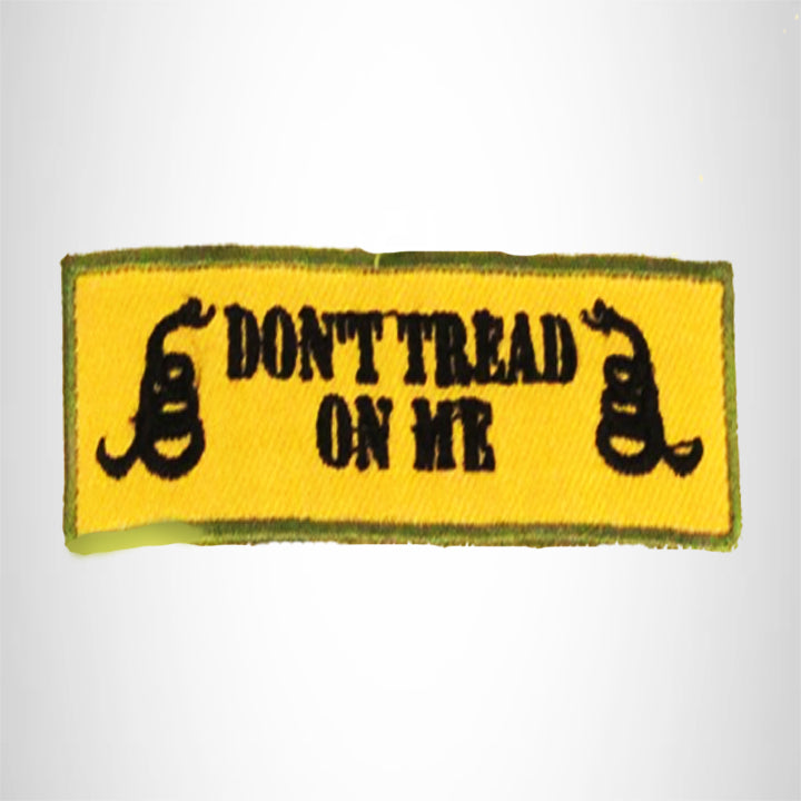 Don't Tread on me Black and Green on Tan Small Patch for Biker Vest SB778