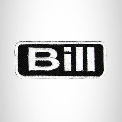 Bill Iron on Name Tag Patch for Motorcycle Biker Jacket and Vest NB142