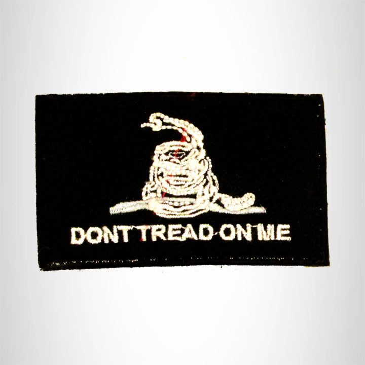 Don't Tread on me White on Black Small Patch Sew on for Biker Vest SB758