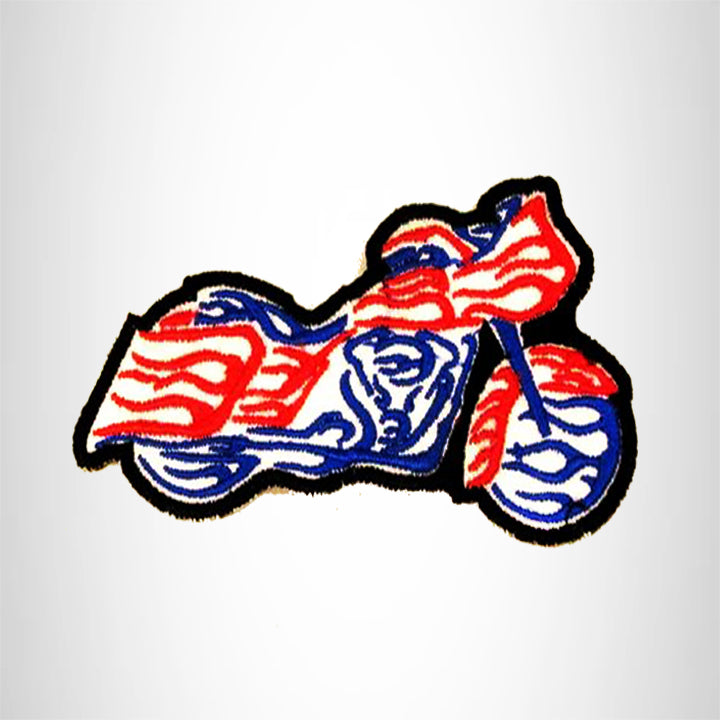 Motorcycle Red White and Blue Small Patch Iron on for Biker Vest SB739