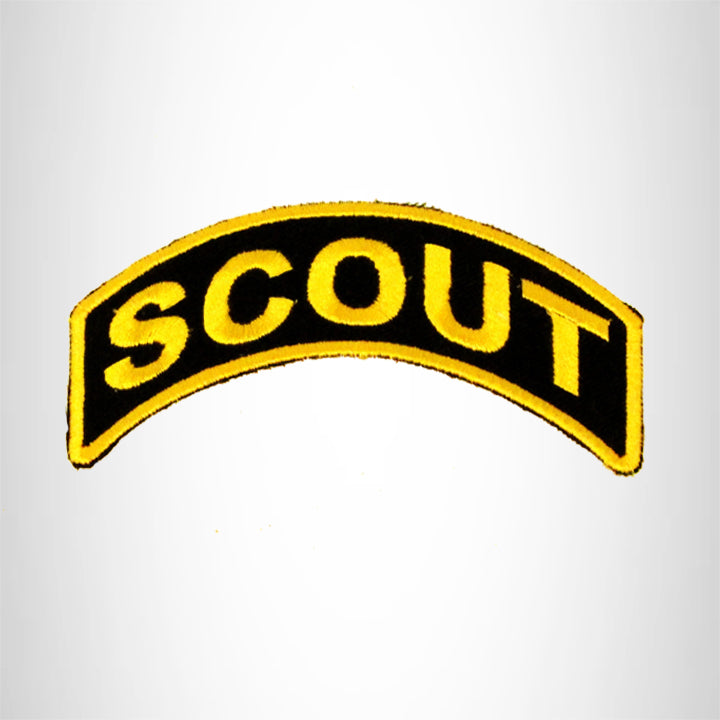 Scout Yellow on Black Small Patch Iron on for Biker Vest SB743