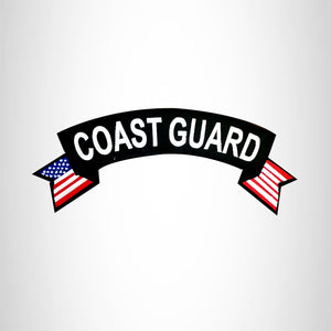 COAST GUARD USA Flag Banner Iron on Top Rocker Patch for Biker Vest Jacket