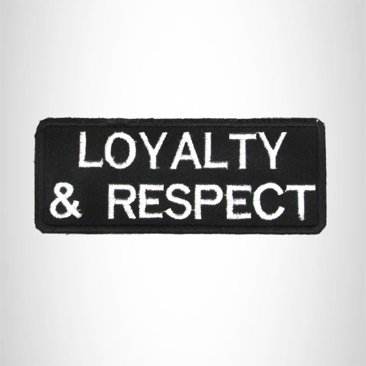 Loyalty & Respect Iron on Small Patch for Motorcycle Biker Vest SB1006