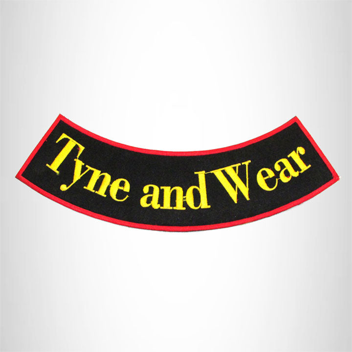 TYNE AND WEAR Bottom Rocker Iron on Patch for Biker Vest BR452