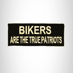 Bikers are the True Patriots Small Patch Iron on for Biker Vest SB801