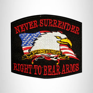 NEVER SURRENDER Small Patch Iron on for Vest Jacket SB665