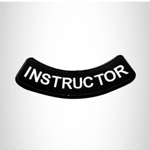 INSTRUCTOR Bottom Rocker Patch for Vest Jacket BR382