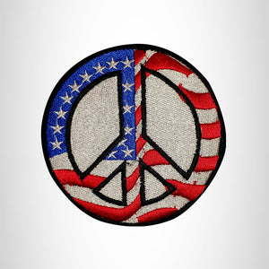 FLAG PEACE SIGN Small Patch Iron on for Vest Jacket SB663