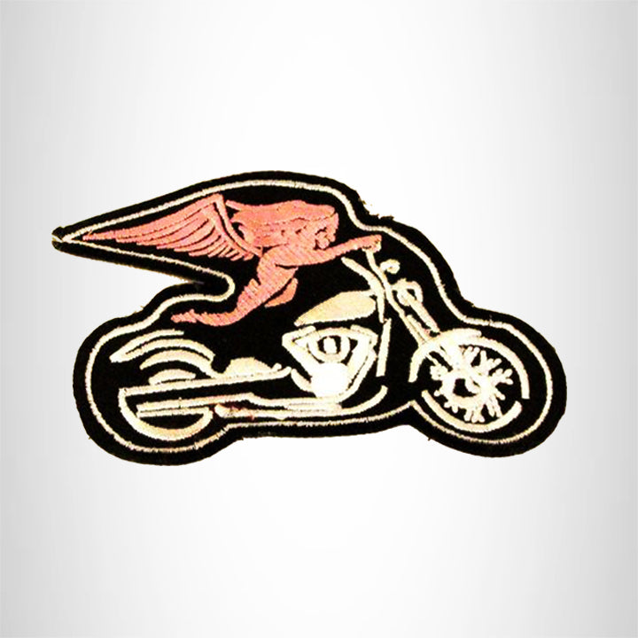 Angel on Motorcycle Small Patch Iron on for Biker Vest SB820