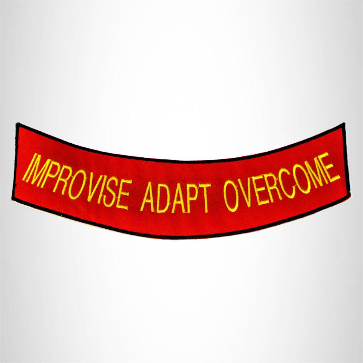 Improvise Adapt Overcome Iron on Bottom Rocker Patch for Motorcycle Biker Vest BR457