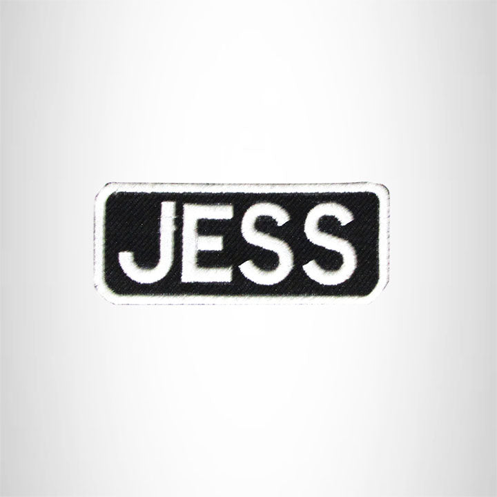 Jess Iron on Name Tag Patch for Motorcycle Biker Jacket and Vest NB169