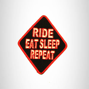 RIDE EAT SLEEP REPEAT Iron on Small Patch for Biker Vest SB848