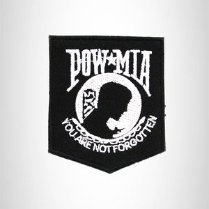 POW MIA YOU ARE Iron on Small Patch for Biker Vest SB856