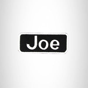 Joe White on Black Iron on Name Tag Patch for Biker Vest NB170